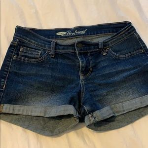 Old navy cuffed denim jean shorts